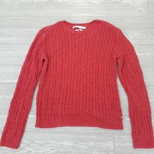 Tommy Hilfiger red Knit textured sweater